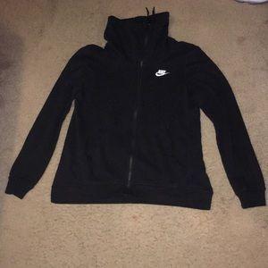 black nike zipper jacket